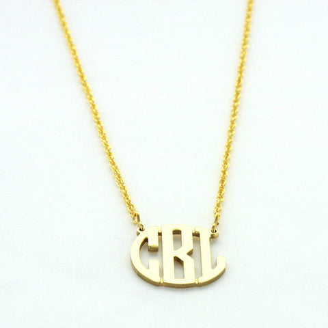 Petite Filigree Gold Tone Monogram Necklace Order By Dec 9 Noon For Christmas Delivery