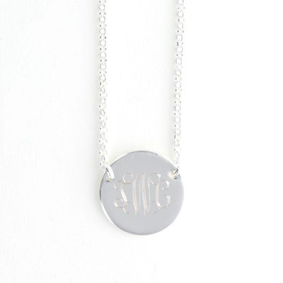 Monogrammed Contemporary Circle Necklace