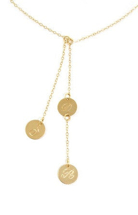 14K Gold Filled Cascade 3 Disc Necklace