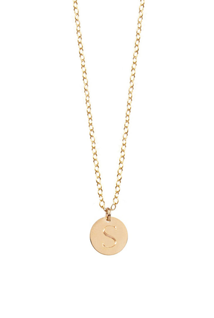 14K Gold Filled Disc Initial Necklace As Seen On Carrie Underwood Alternate 2