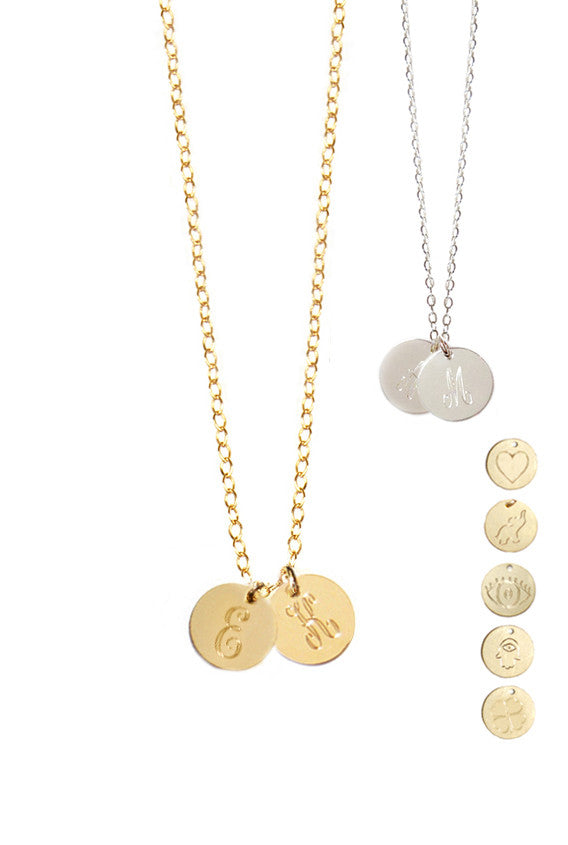 14K Gold Filled Disc Initial Necklace As Seen On Carrie Underwood Alternate 5