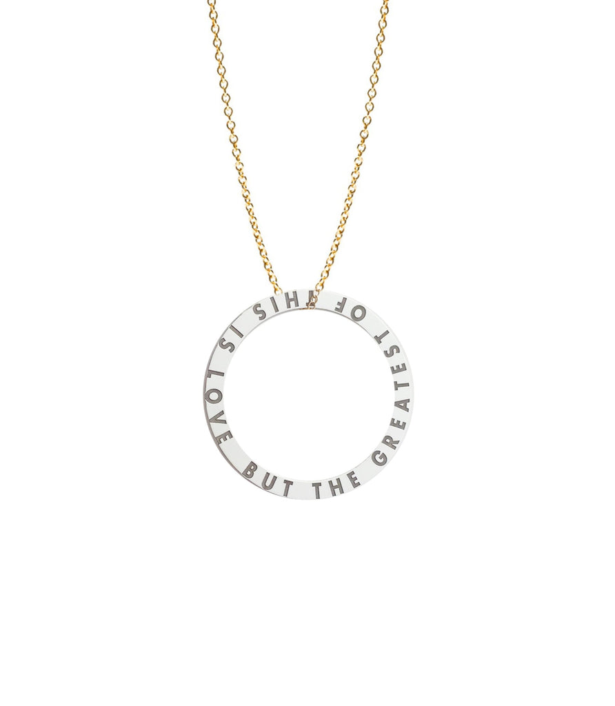 Personalized Infinity Circle Loop Necklace 3