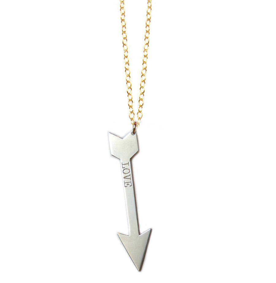 Mixed Metal Personalized Arrow Necklace-The TODAY Show