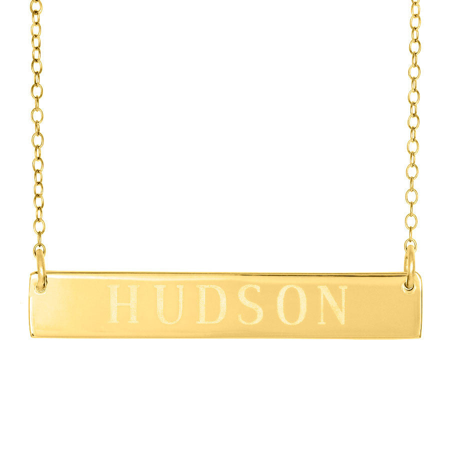 Engraved Gold Bar Necklace Clare Of The Bachelor Reese Witherspoon