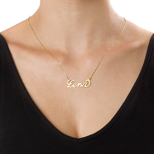 Carrie style name necklace - Large