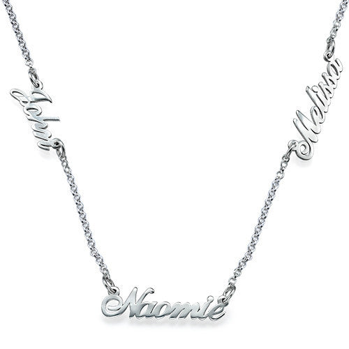 Multiple Script Name Necklace
