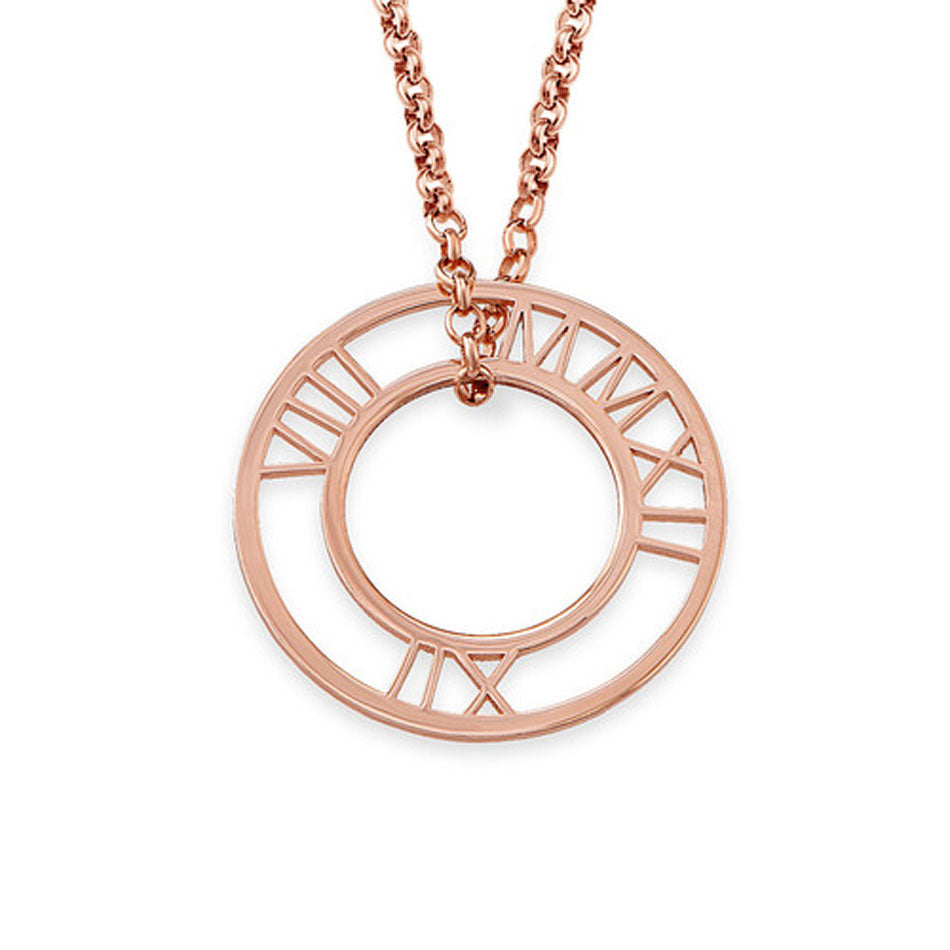 Roman Numeral Loop Necklace 4