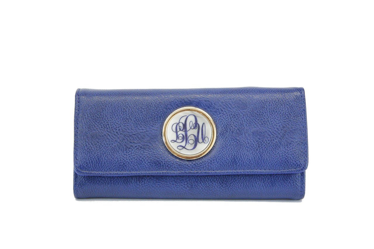 Monogram Foldover Wallet Royal