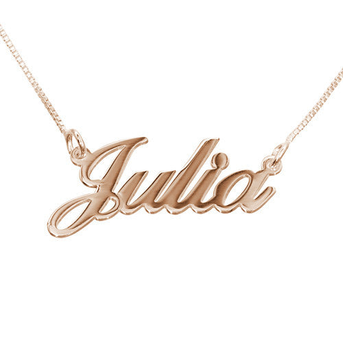 Small Classic Nameplate Necklace 4