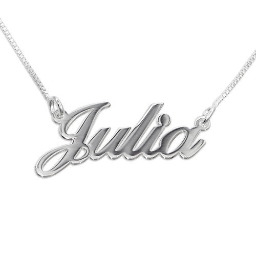 Small Classic Nameplate Necklace 5