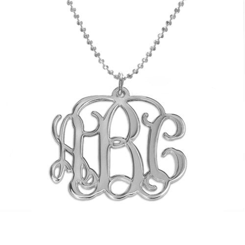 Mini Monogram Necklace - Vine Script 2