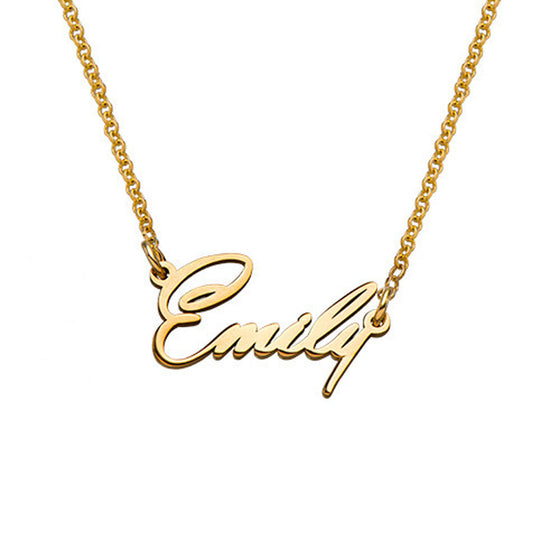 Gold Tiny Name Necklace