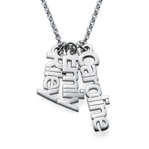 Silver Vertical Name Necklace 2