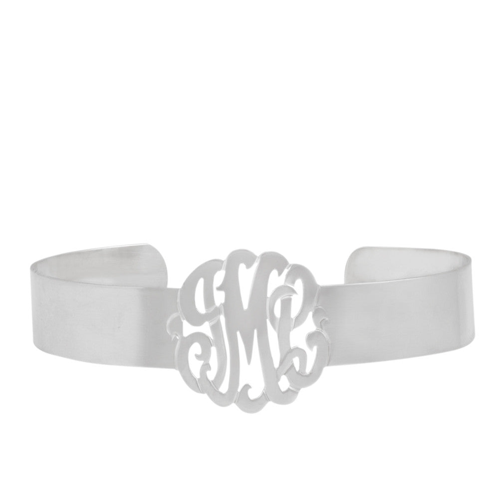 Rose Gold Plated Monogram Cuff Bracelet Alternate 1
