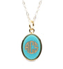 Vineyard Oval Acrylic Monogram Necklace medium