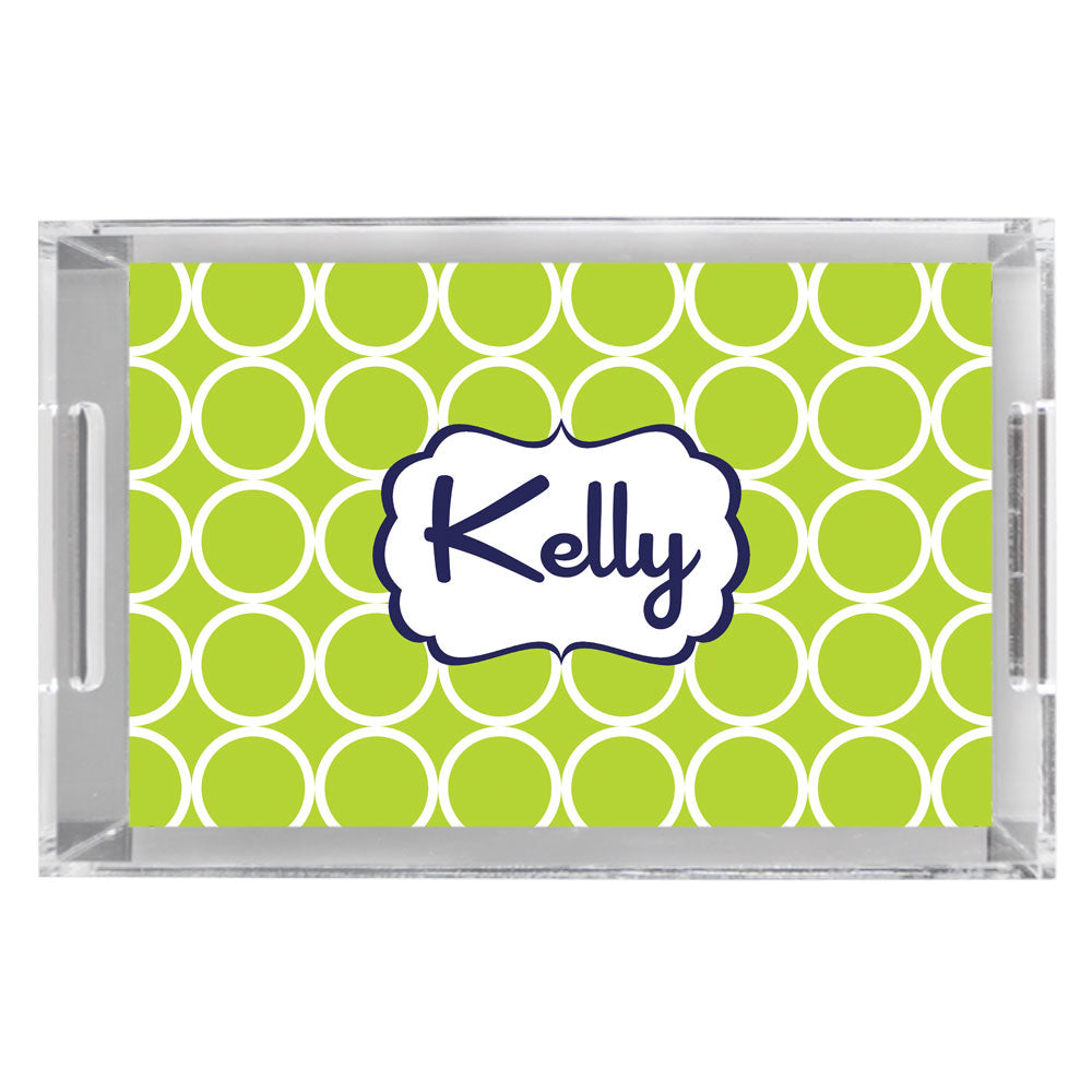 Monogram Acrylic Tray - Hoops