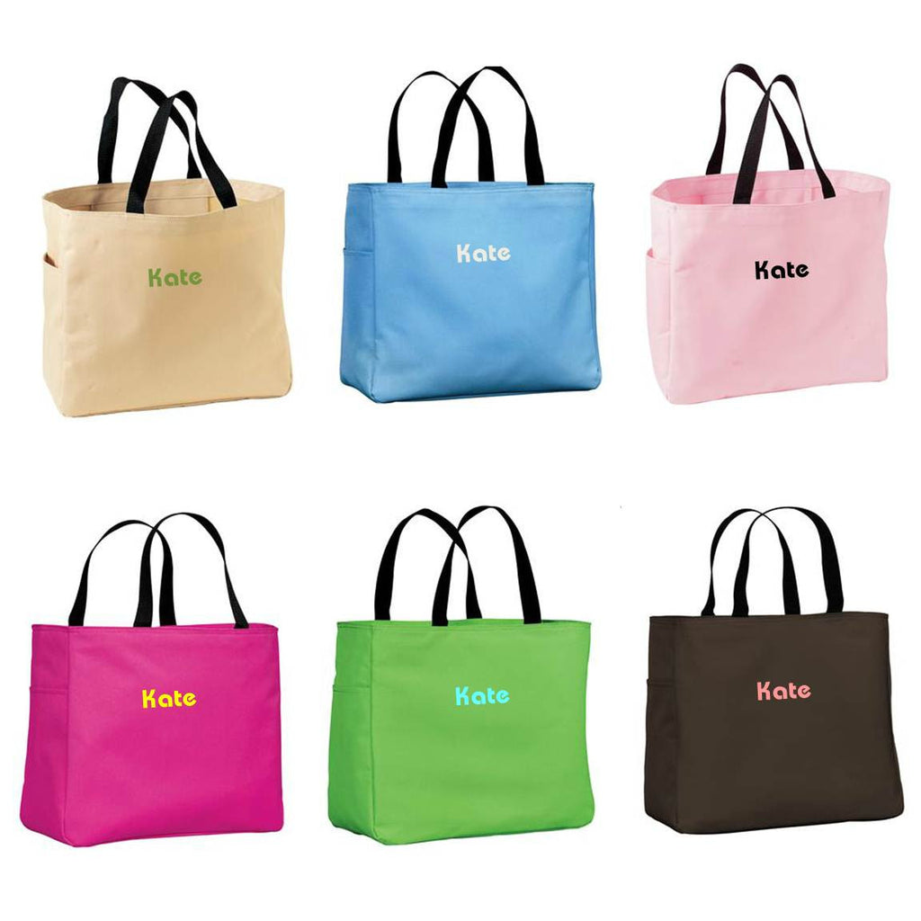 Personalized Tote Bag Lots Of Colors Alternate 1