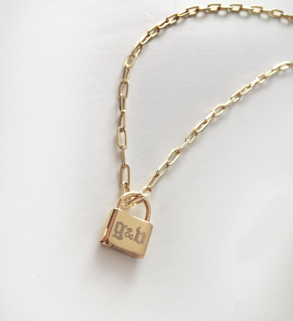 Personalized Gothic Lock Necklace 5
