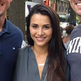 Andi Dorfman gold bar necklace