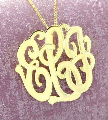 Back Bale Monogram Necklace