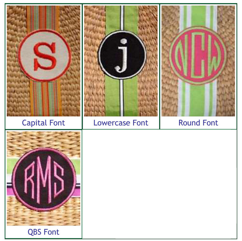 Monogrammed Cocktail Straw Basket Bag Alternate 3