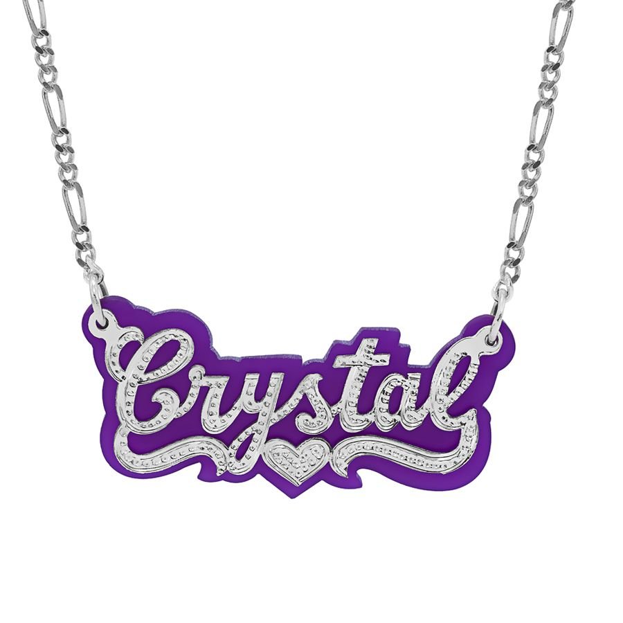 Beaded Nameplate Necklace with Acrylic