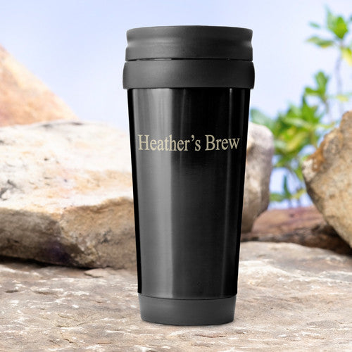 Personalized Travel Tumbler Black