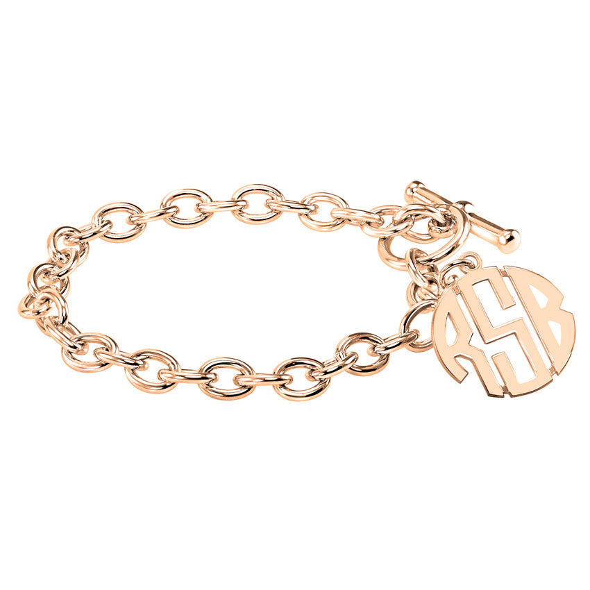 Block Monogram Toggle Bracelet