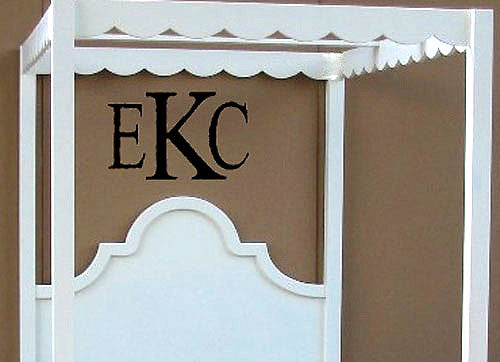 Block Wall Monogram Decal