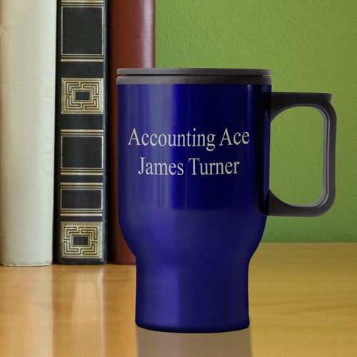 Personalized Travel Mug Blue