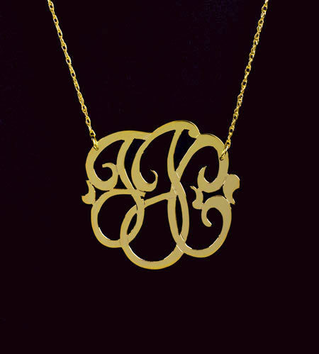 Small Gold Monogram Necklace