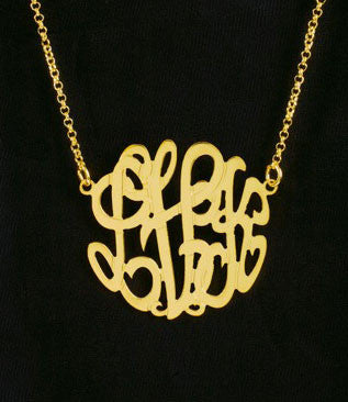 Petite Gold Monogram Necklace