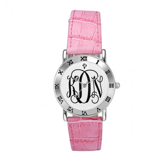 Ladies Classic Script Monogram Watch
