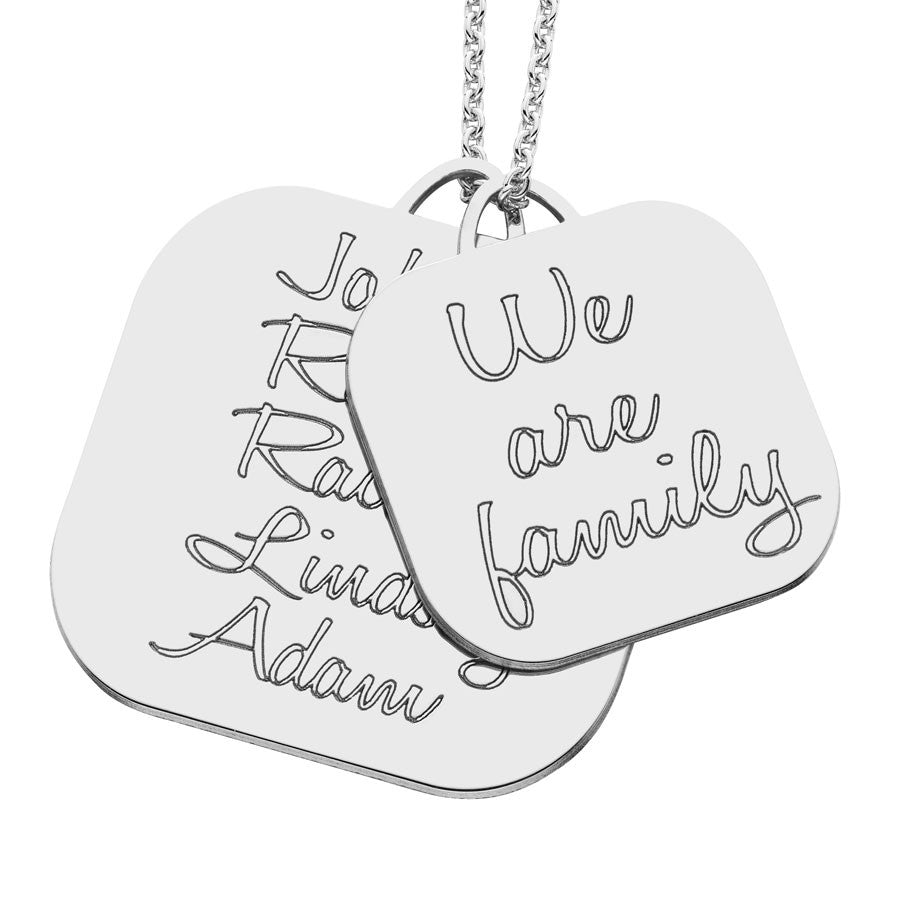 Personalized We Are Family Mothers Necklace Alternate 1