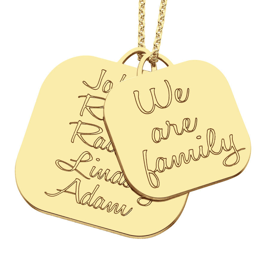 Personalized We Are Family Mothers Necklace