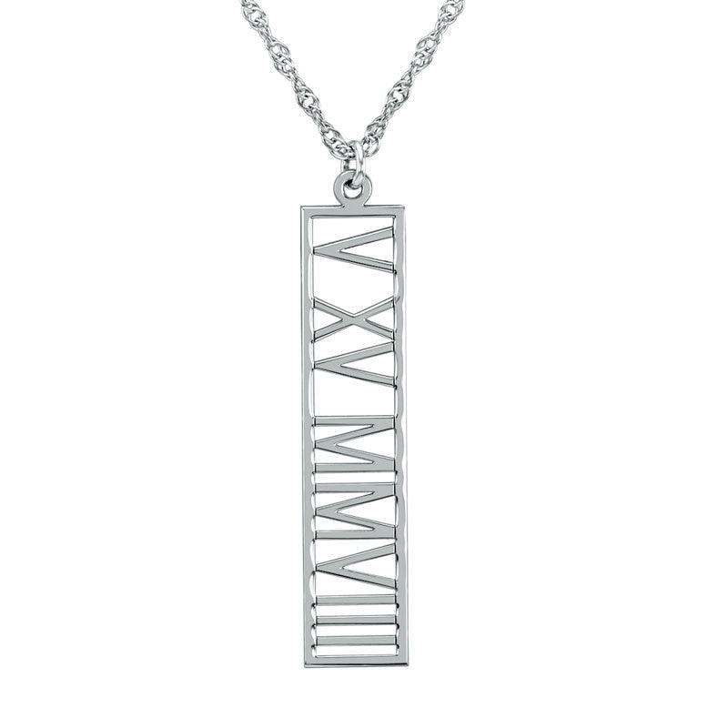 Roman Numeral Necklace Alternate 1