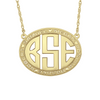 Gold Monogram Mothers Necklace