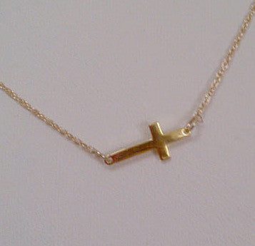 Gold Side Cross Necklace Giuliana Rancic Kardashians Alternate 2