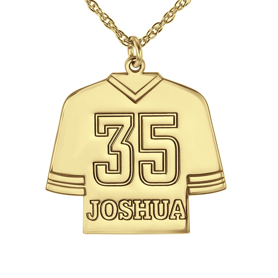 Personalized Hockey Jersey Necklace