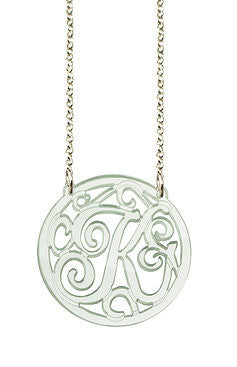 Acrylic Rimmed Initial Necklace The Today Show
