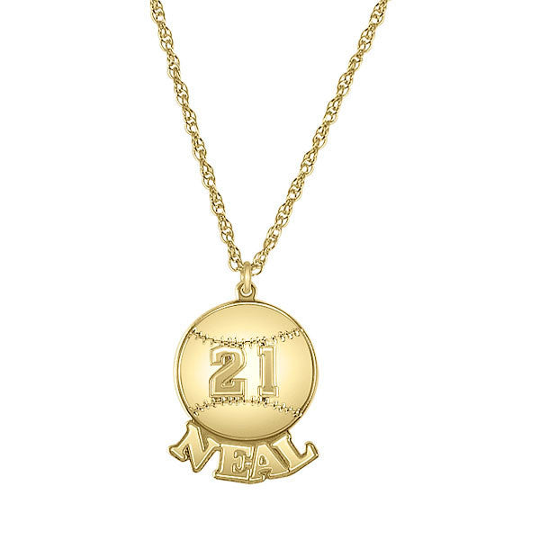 Personalized Baseball Necklace Alternate 1