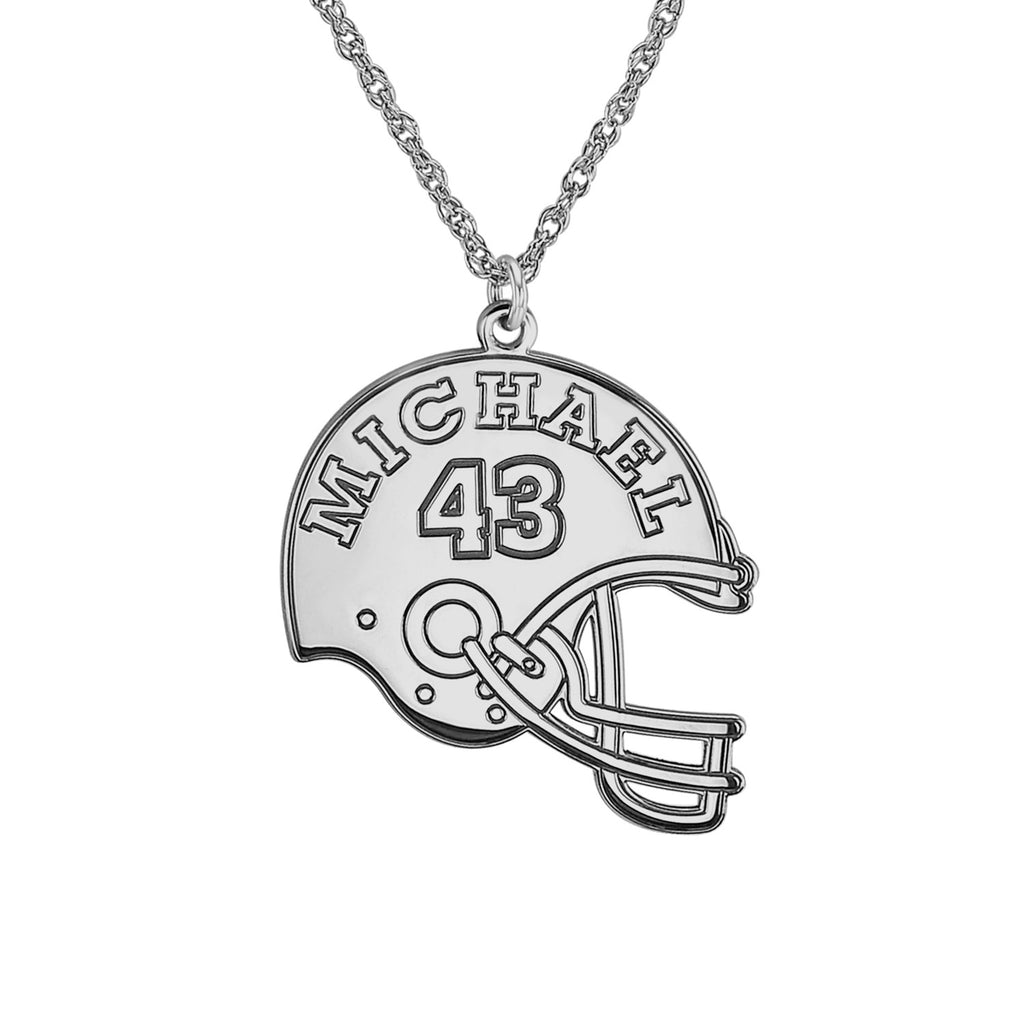 Personalized Football Helmet Necklace