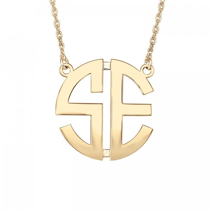 Gold Two Initial Monogram Necklace