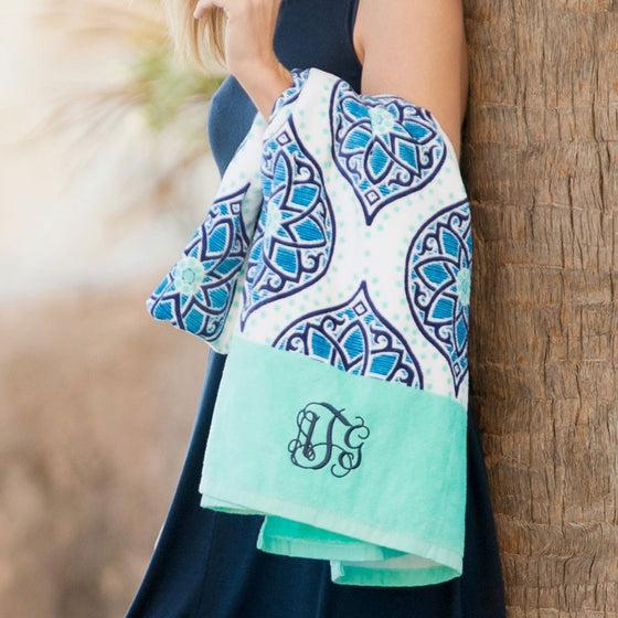 Monogram Beach Towel - Boho