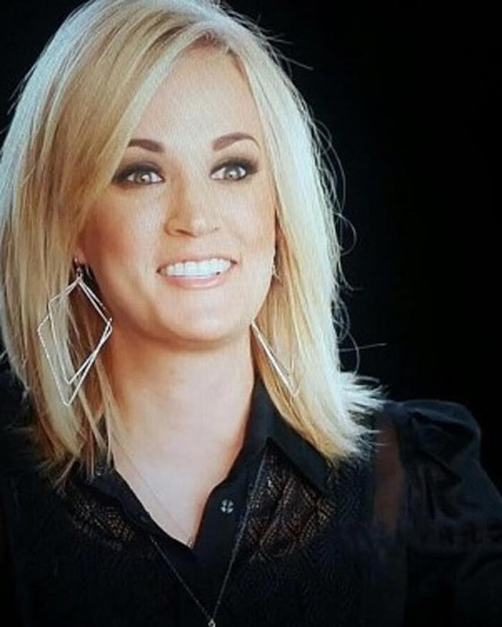 Pure Inverted Diamond Hoop Earrings - Carrie Underwood