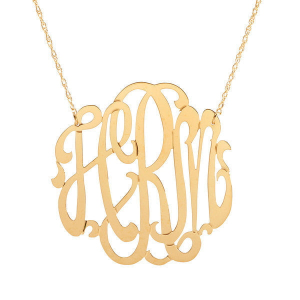 Gold Filled Monogram Necklace 5