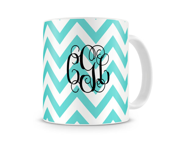 Chevron Monogram Coffee Mug
