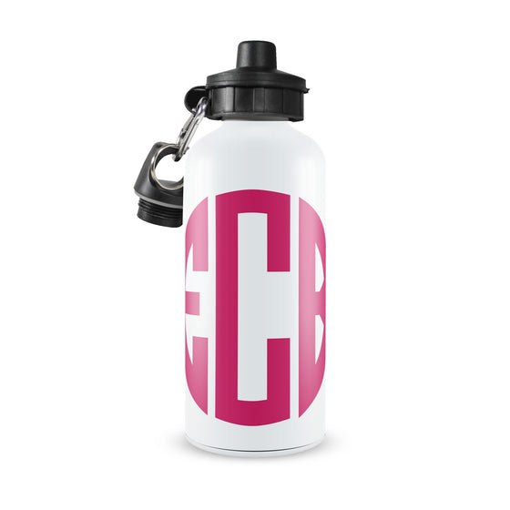 Circle Monogram Water Bottle