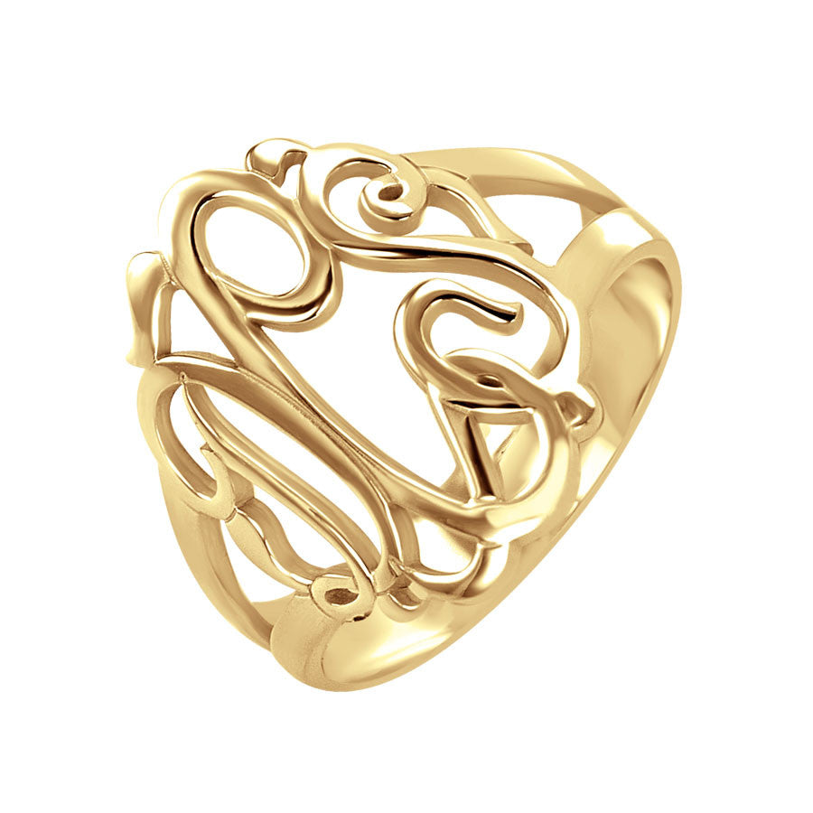 classic monogram ring gold