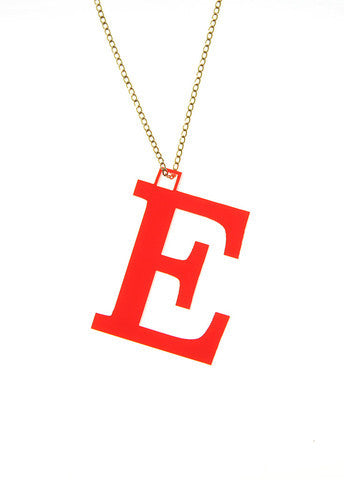 Acrylic Block Letter Necklace